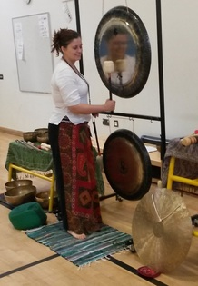 Gong Meditation at a workplace for de-stress and relaxation of the staff.