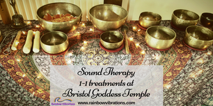 sound therapy treatments with rainbow vibrations at bristol goddess temple in south glos